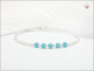 "Preview: ""Etwas Blaues"" Chalcedon Achat Brautarmband"